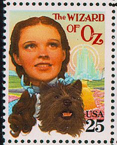 "US Stamp Gallery >> ""Wizard of Oz, Judy Garland"""