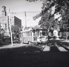 Toronto Transit Commission, McCaul Loop, McCaul Street, east side, north of Renfrew Place, 1957 Titanic History, Toronto Ontario Canada, Bonde, Busses, East Side, Canada Travel, Trains, Past, Transportation