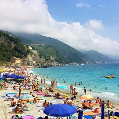 A sunny day in Monterosso, Italy. Photo courtesy of flyquartz on Instagram.
