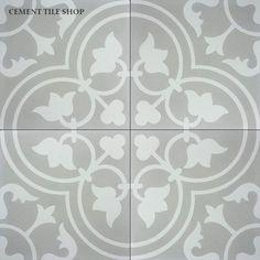 MASTER BATH...IN stock $85.00 per box of 12. Cement Tile Shop - Encaustic Cement Tile Bouquet II