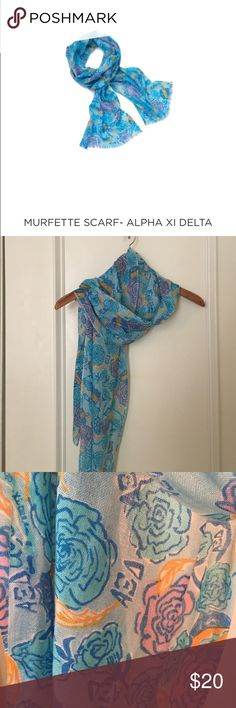 Lilly Pulitzer Alpha Xi Delta scarf This item is so popular Lilly Pulitzer it's no longer available to buy online! 51% silk and 49% cashmere Lilly Pulitzer Accessories Scarves & Wraps