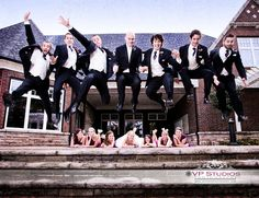 Totally fun Bridal Party shot we did for this wedding!