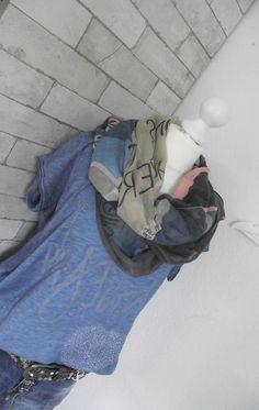 NEU Schal Tuch **KALIN** grau-bunt ca. 90 x 180 cm