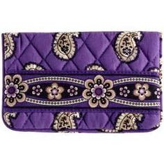 Vera Bradley One For The Money in Simply Violet. Wallet kisslock coin cosmetic tech case. quite multifunctional.  NWT Retired