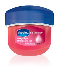 Vaseline petroleum jelly has many uses—from removing makeup to conditioning lips to keeping eyebrows in place. Rosy Lips gives them a nice sheen and rosy hue, and has been a mainstay of many a medicine cabinet since 1872.