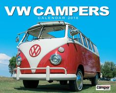 VW Campers 2018 Office or Home Wall Calendar-Salmon Calendars Year Planner