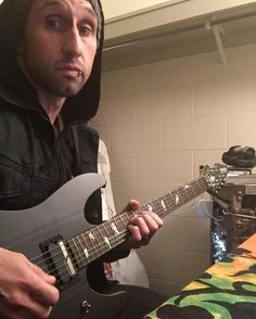 Via @Ebassprod: Thanks @DjASHBA for letting me use his @Schecter_Guitar sig model to work on SD material. This thing is so much fun! #EricBass #Shinedown #DJAshba #SixxAM   Barry Kerch Brent Smith Eric Bass Shinedown Shinedown Nation Shinedowns Nation Zach Myers
