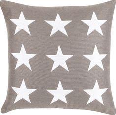 Multi Star Kissen in grau-weiß, 50 x 50 cm #moltex #kissen Erhältlich: http://www.mein-boxspringbett.de/bettdecken-und-kissen/moltex.html