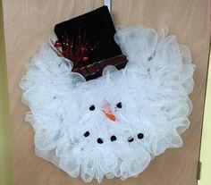 2' 6 Snowman Wreath by PensPreciousTreasure on Etsy