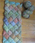 Basic Entrelac Scarf - Media - Knitting Daily *XOX Thanks for Free Pattern!