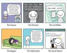 types of procrastination