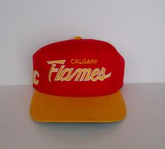 Sports Specialties Calgary Flames colorway double line script Twill Snapback 6e9ae1d48e83