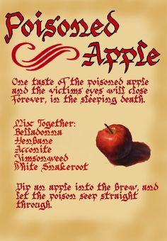 Hey, i dont know if many of you have watched CHARMED before but i am a big fan of it. and i designed this Disney page to go inside the Charmed Book of Shadows. Its about the poisoned apple in Snow Halloween Spell Book, Halloween Spells, Halloween Labels, Holidays Halloween, Halloween Crafts, Happy Halloween, Halloween Decorations, Halloween Ideas, Halloween Party