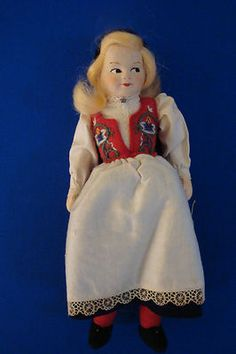 Ronnaug Petterssen Cloth Doll Romsdal Norway Doll with Original Box and Tag | eBay