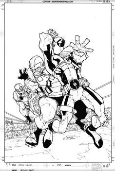 Humberto Ramos rough Pencils | humberto ramos deadpool team up 898 cover july 21 2011 in humberto ...