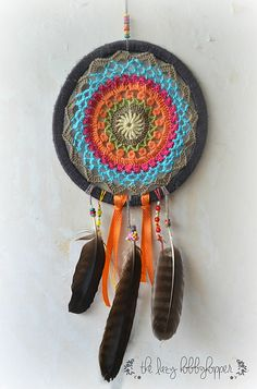 Ravelry: Crochet Dreamcatcher pattern by The Lazy Hobbyhopper