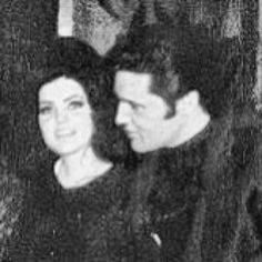 January, 1968 (Priscilla was pregnant with Lisa; very few photos exist - Elvis did not want Priscilla to be photographed during the pregnancy)