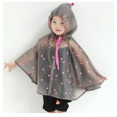 Lovely Style Children Stars Raincoat Outdoor Rain Cape Poncho (L, Pink) Girls Raincoat, Black Raincoat, Mens Raincoat, Cute Raincoats, Raincoats For Women, Cute Baby Girl Outfits, Newborn Girl Outfits, Baby Girl Dresses, Suits