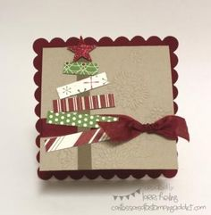 Christmas Tree Card by LorriHeiling - Cards and Paper Crafts at Splitcoaststampers==
