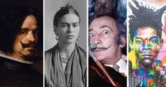 A look at some of the great Hispanic artists in history, from Diego Velázquez to Frida Kahlo and Pablo Picasso to the edgy Jean-Michel Basquiat. Latin Artists, Spanish Artists, Jean Michel Basquiat, Diego Rivera, Pablo Picasso, Famous Colombians, Famous Hispanics, Summer Camp Art, Clemente Orozco
