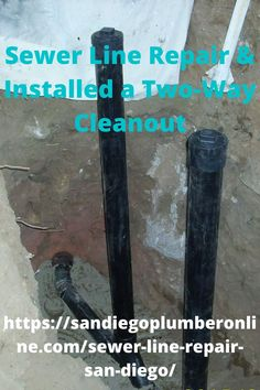 Sewer Line Repair in San Diego. Dug down ( Which was close to 7' plus feet.to remove the Cast-Iron drain. And Replace with ABS Plastic piping. And did a city line tie-in connection. Which was made of clay. The Purpose of a two-way cleanout is that one of the combos or tees. Will go towards the house and the other will go to the street. Metal Pipe, Iron Pipe, Sewer Line Repair, Bend Pipe, Toilet Installation, Pipe Repair, Free Quotes, It Cast, Cast Iron