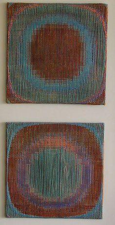 double weave | copper thread + mercerized cotton