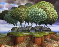 The Cider Recipe by Jacek Yerka. Surrealism. symbolic painting