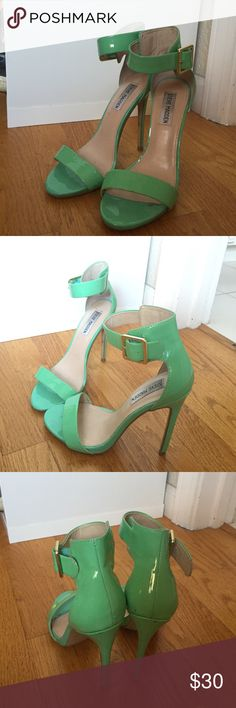 Mint green heels by Steve Madden Mint green heels. Have been worn several times so are not in perfect condition but still in good wearable condition. Steve Madden Shoes Heels