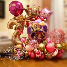 Balloon Ideas, Balloon Decorations, Paw Patrol Balloons, Diy Party, Party Ideas, Paw Patrol Party, Balloon Bouquet, Birthday Balloons, Ornament Wreath