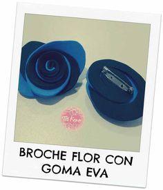 Broche flor de goma eva