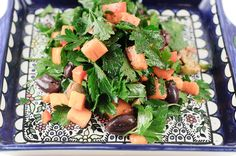 Persimmon Parsley Olive Salad, page 122  in the Herbivoracious Cookbook