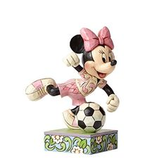 Jim Shore Disney Traditions Goal Minnie Mouse Soccer Football Figurine 4050397 – Friendly Faces