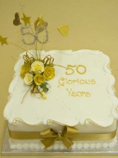 50 Anniversary Cake  My Mom's & Dad's 50th Wedding Anniversary 05-05-2012