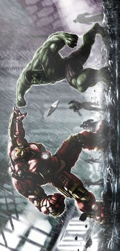 #Hulk #Fan #Art. (Hulk vs Hulkbuster) By: Caglayan Kaya Goksoy. (THE * 3 * STÅR * ÅWARD OF: AW YEAH, IT'S MAJOR ÅWESOMENESS!!!™)[THANK Ü 4 PINNING!!!<·><]<©>ÅÅÅ+(OB4E)