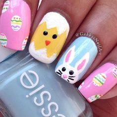 42 Pretty Easter nail art design ideas - Easter eff hunt nail art,spring nail art designs #acrylicnail #nail #manicure #prettynails #nailart #springnail