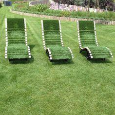 groene stoelen - Gezien op de Floriade 2012.