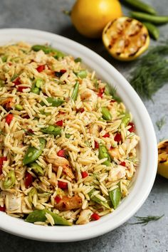 Grilled Chicken and Lemon Orzo Salad from @farmgirlsdabble for The Pioneer Woman Food & Friends