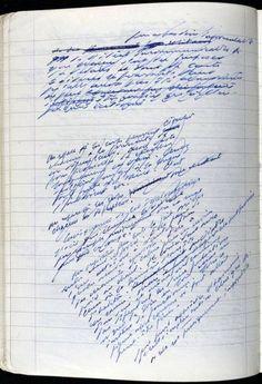 SAMUEL BECKETT's manuscript notebook: Le Dépeupleur.