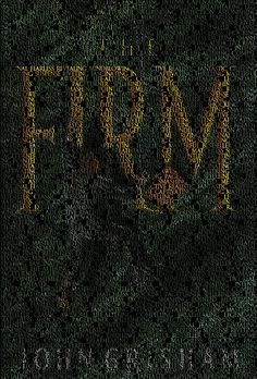 The cover of The Firm, created from fans' one-word reviews of the book posted on Facebook.