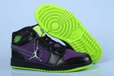 Air Jordan Shoes Air Jordan 1 High Black Purple Volt [Air Jordan 1 - The Air Jordan 1 is a legendary shoe and is the holy grail of most sneaker collectors because of its history and since it was the first Jordan shoe launched. This Air Jordan 1 High Nike Kids Shoes, Jordan Shoes For Kids, Jordan Shoes Online, Cheap Jordan Shoes, Michael Jordan Shoes, Nike Shoes Outlet, Air Jordan Shoes, Jordans For Sale, New Jordans Shoes