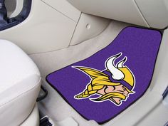 Minnesota Vikings 2-pc Printed Carpet Car Mat Set