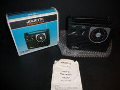 Vintage Juliette  FPR-1293B FM/AM Built-In Automatic Frequency Radio NIB