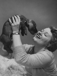 """Patti Page: Singer Patti Page released """"Do You See that Doggie in the Shelter"""" and no doubt thought of her Doxie puppy. It was a rewrite of her 1952 recording hit """"How Much is that Doggie in the Window?"""" When she re-recorded it for The Humane Society of the United States, it brought a lot of attention to rescue and shelter dogs."""
