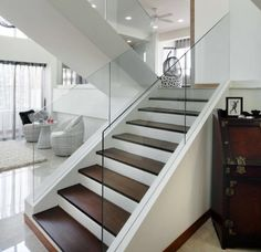 Contemporary stairs from my main door