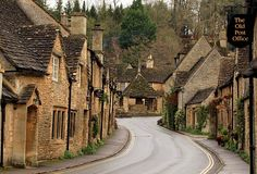 castle combe, britain... named the country's prettiest village in 1962