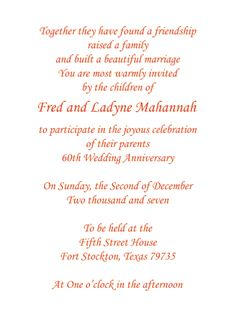 Print your own 60th wedding anniversary invitation wording