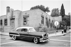 1930's Art Deco Architecture. The Mad Art Gallery, formerly the Third District Police Station in St Louis MO. 1950's Bel Air Hardtop. Wedding ceremony and reception venue. A Unique Place to get Married in St Louis MO. Saint Louis Wedding, Engagement & High School Senior Photographer Natasha McGuire.