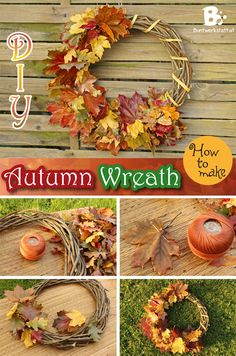 Once I found out how to preserve autumn leaves, I wanted to make some seasonal crafts with it. This colorful autumn wreath is what I came up with: How to make it: This Autumn Wreath Tutorial is pretty self-explanatory. All you need are some preserved autumn leaves and a basic wreath. I did a tutorial on both of them: Just click on the picture to get to the requested tutorial. Of course you could also use normal, unpreseved leaves, but these will wither very fast. Alternativel...