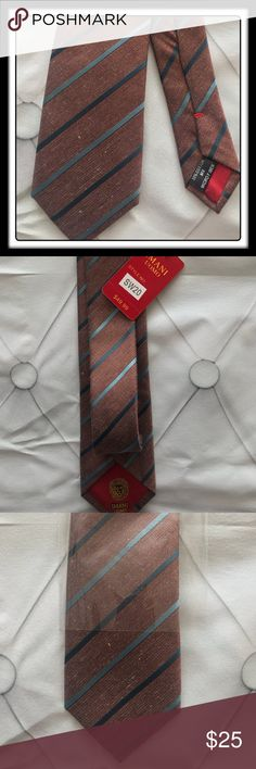 IMANI Tie #NWT designer Imani Uomo tie. Beautiful vintage look with stripes IMANI Accessories Ties