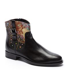 Another great find on #zulily! Water Serpent Barb Leather Ankle Boot by Icon Shoes #zulilyfinds
